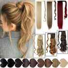 Real Thick Clip In Pony Tail Hair Extensions Wrap Clip On Ponytail As Human Hair