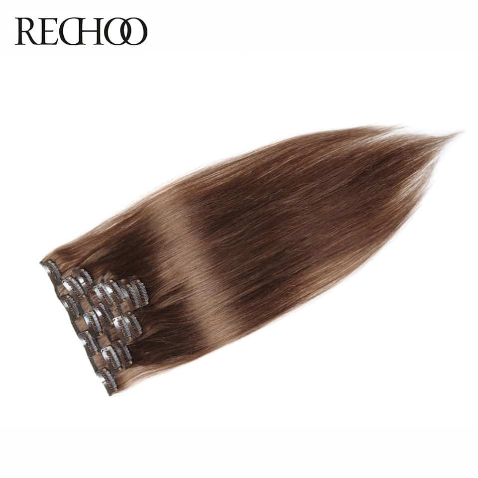 Human Hair Clip In Extensions 19