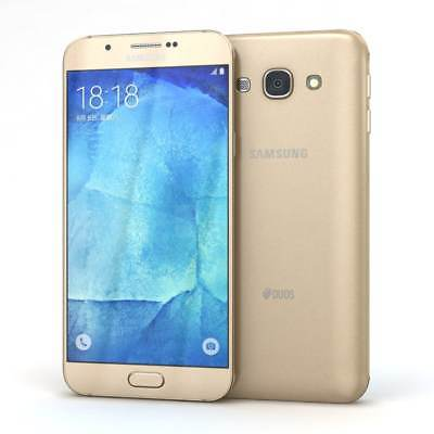 Samsung Galaxy A8 Duos - 32GB - Dual SIM - Gold (Unlocked) FULLY TESTED (C)
