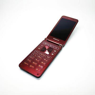 Samsung Galaxy Folder 2 Red Wine Factory Unlocked Folded Phone