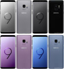 Samsung Galaxy S9 SM-G960U 64GB Factory GSM Unlocked Phone Black Blue Purple