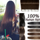 Seamless Tape In Real Human Hair Extensions Best Remy Quality Stock Brown QN113
