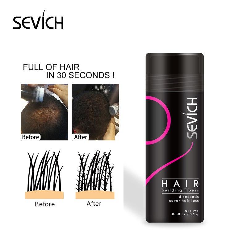 Sevich Hair Building Fiber Thickening Hair Styling Keratin Hair Fiber Spray Applicator Hair Loss Powder Blending Extension