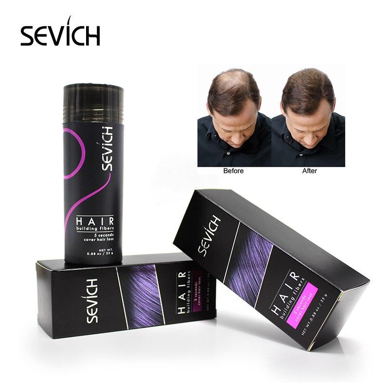 sevich Regrowth Oil Hair Keratin Thickening Hair Building Instantly 25g Hair Fiber Powder Spray Applicator Black/dk brown
