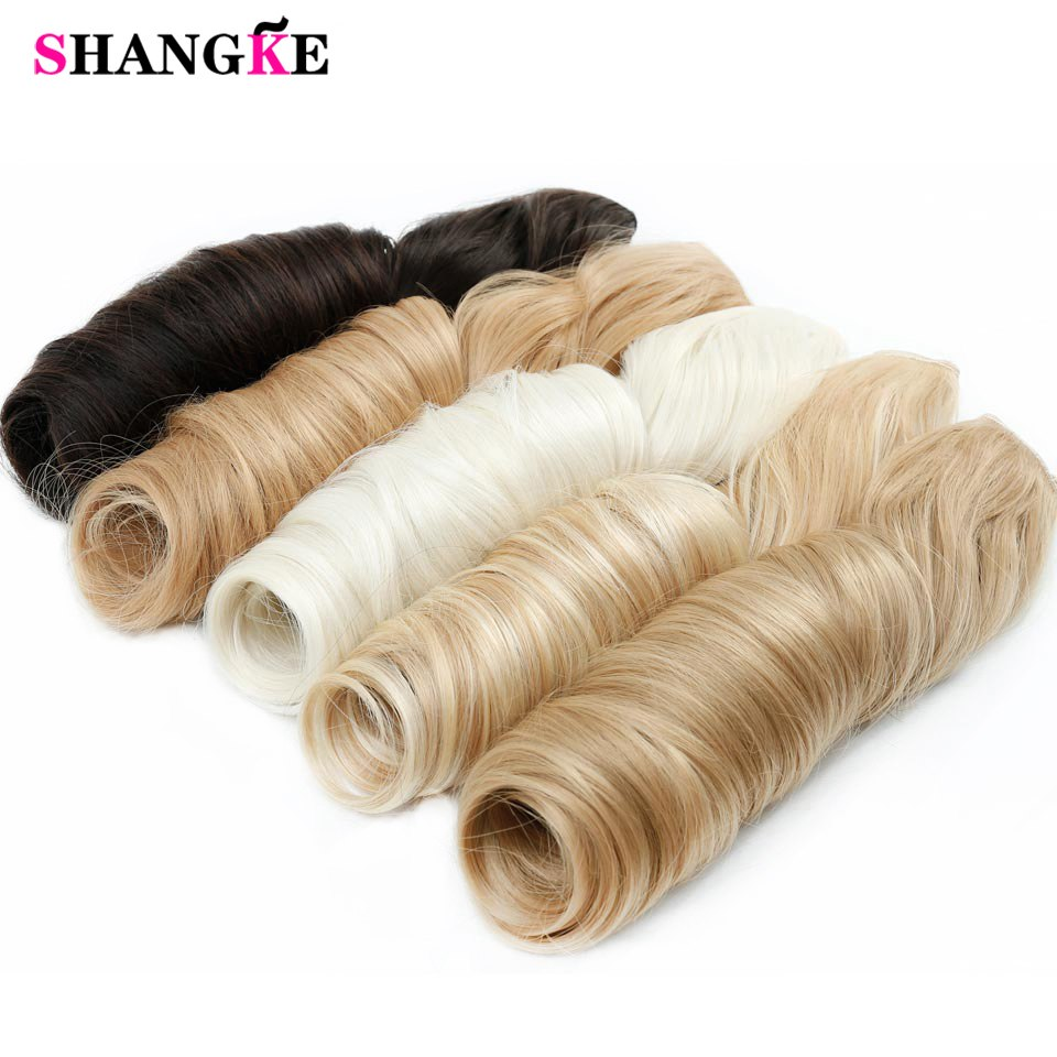 SHANGKE 28'' Long Wavy 5 Clip In Hair Extensions Heat Resistant Synthetic Fake Hairpieces Natural False Hair Pieces Women Hair