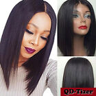 Short Full Wig Synthetic Hair Bob Wig Straight Black Glueless Lace Front Wigs