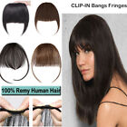 Side Bangs Clip on Neat/Air Bang Fringes 3 Clip in 100% Human Hair Extensions RW