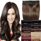 THICK One Piece Clip In Brazilian Real 100% Remy Human Hair Extensions US P196
