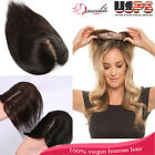 Top Replacement System Remy Human Hair Topper Hairpiece Wiglet Silk Mono Base RW