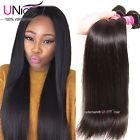 UNice Brazilian Virgin Hair Straight 3 Bundles 8A Straight Human Hair Extensions