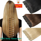 US BEST 100% Real Clip In Remy Human Hair Extensions ONE PIECE WEFT 3/4Full Head