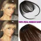 US Cheap Clip In Human Hair Bangs Fringe Hair Extension Thin Hairpiece USPS T746