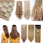 US Lady Clip In Real as Human Hair Extensions Set Best Weft Wedding Hairpiece
