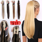 US Real Thick Clip In Pony Tail Hair Extensions Claw Clip On Ponytail As Human H