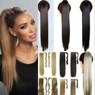 US Real Thick Hair Wrap Around Ponytail 1Pc Clip In Pony Tail as human Extension