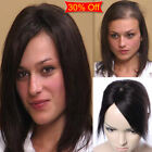 US Silk Base Mono Lace Remy Human Hair Topper Toupee Hairpiece Top Wig For Women
