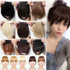 US Stock Side Bangs Clip on Neat Bang Fringes Clip in Hair Extensions as Human E