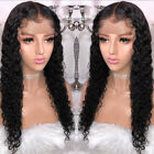 US store Pre Plucked Brazilian Human Hair Wigs Curly Lace Frontal Wigs free part