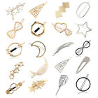 Women Girls Korean Star Hair Clip Snap Barrette Comb Stick Claw Clamp Hairpin