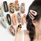 Women Vintage Leopard Resin Hair Clip Hairband Snap Slide Barrette Hairpin Comb