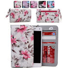 Women's Flower Pattern Wallet Case Cover for Smart Cell Phones by KroO ESLGF-1