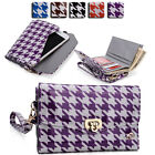 Womens Houndstooth Wallet Case Clutch Cover for Smart Cell Phones by KroO MLPK2
