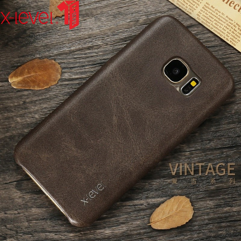 X-Level Leather Case For Samsung Galaxy S7 S8 Original PU Ultra Thin Full Protective Back Cover Case For Samsung S7 Edge S8 PLUS
