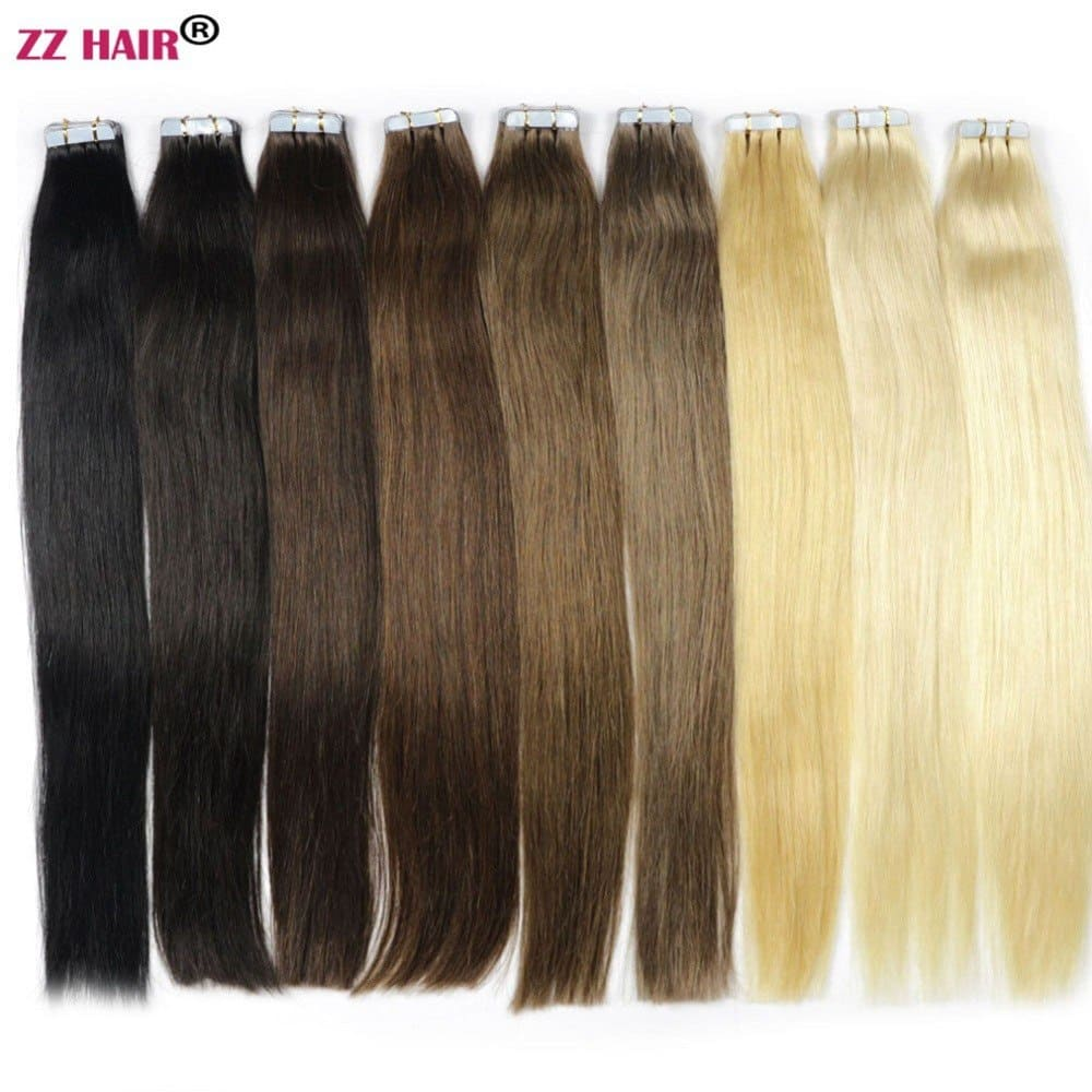 Remy Hair Extensions Tape In 22