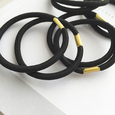 1 Pcs Women Hair Bands Black Elastic Hair Rubber Clips Hair Ropes