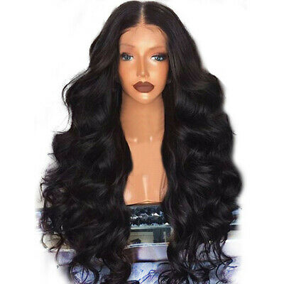 Black Wigs Remy Women Hair Body Wave Wigs For Women Natural Beauty 65-68cm US