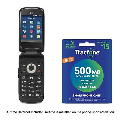 Free Certified Pre Owned ZTE Z233 Flip Phone w/ Purchase of $15 Airtime Plan