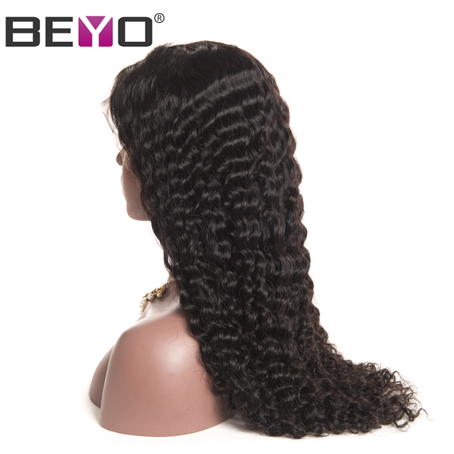 Lace Front Human Hair Wigs For Black Women Malaysian Deep Wave Lace Front Wig Pre Plucked With Baby Hair Remy Lace Wig Beyo