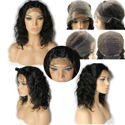 Lace Front Remy Human Hair Curly Wigs Wigs Brazilian Black Women Indian US STOCK