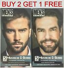 Men's Select Mustache and Beard Dye Black or Dark Brown Hair Color 5 Minute Gel