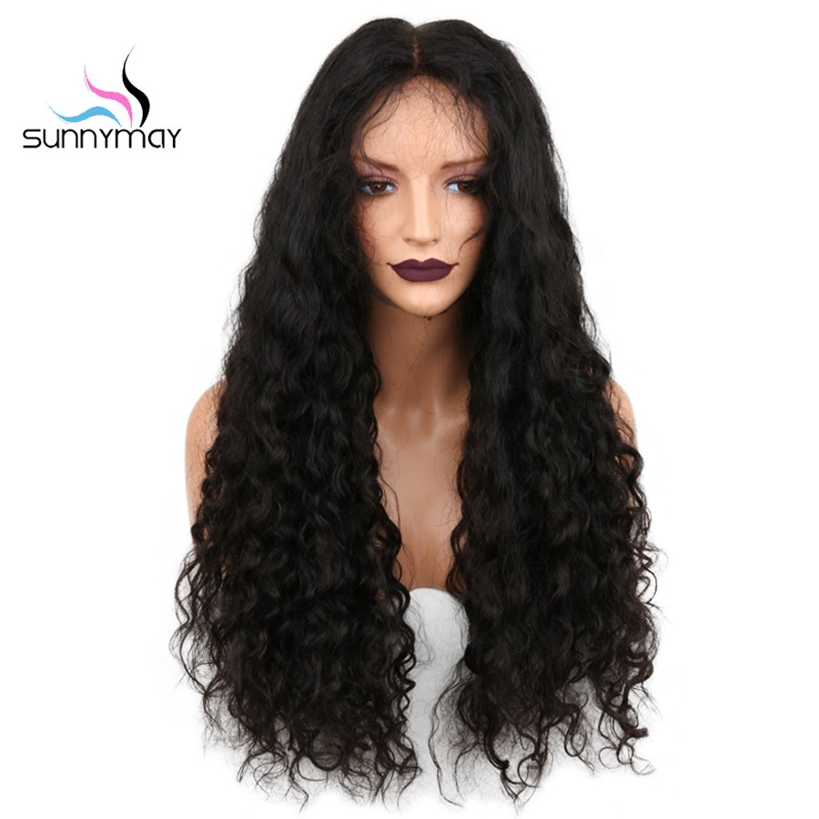 Sunnymay Hair Lace Front Human Hair Wigs 130% Pre Plucked Curly Lace Front Wig With Baby Hair Brazilian Remy Hair Wig For Women