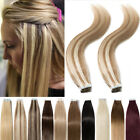 US Super Tape In Glue 100% Remy Human Hair Extensions Real Thick 60pcs 150g J389