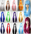 Women 80cm Long Straight Wigs Fashion Cosplay Costume Anime Hair Party Full Wigs