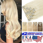 "8""-24"" 100% Real Remy Full Head Clip In Human Hair Extensions Highlight US T720"