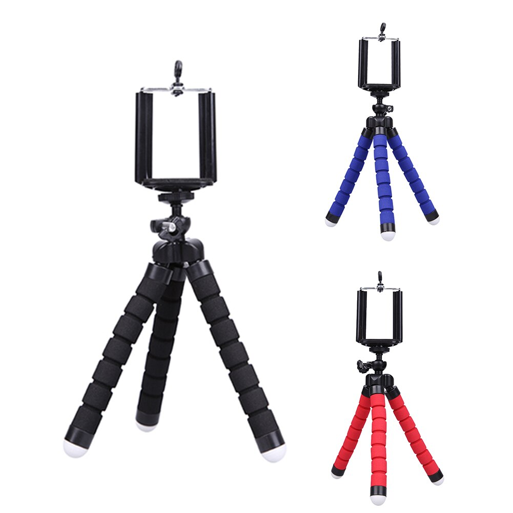 Alloet Mini Tripod Phone Holder Mount Selfie Portable Camera Tabletop Travel Tripod For Samsung Sony Huawei Oppo Mobile Phone