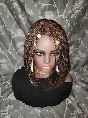 Box Braided Wigs Bob Lace Front Wig for Black Women Glueless Short Bob 27/30