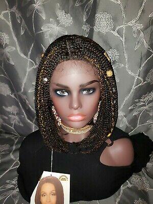 Box Braided Wigs Bob Lace Front Wig for Black Women Glueless Short Bob FS4/30
