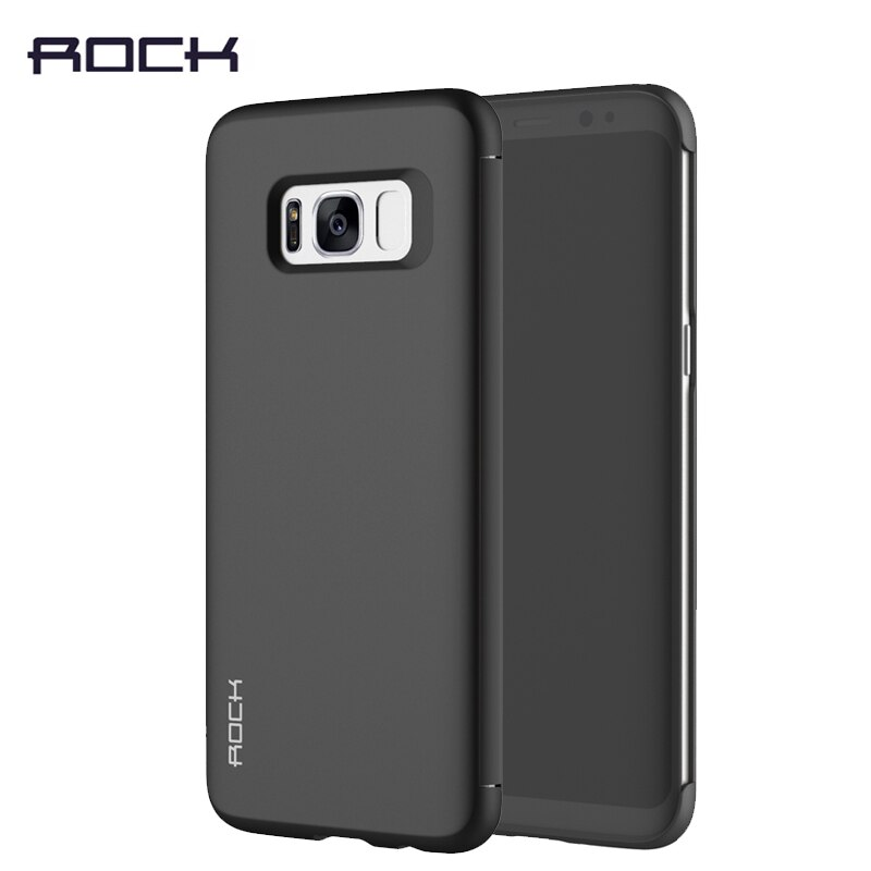 Case For Samsung Galaxy S9 Plus Flip Cover Rock Dr.V invisible Luxury View Window Smart Flip Case for Samsung Galaxy S9 S9 Plus