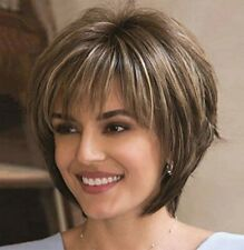Elim Brown Wigs for White Women Short Curly Hair Wig Synthetic Full Female Wigs