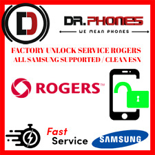 FACTORY ROGERS UNLOCK SERVICE FOR ROGERS CANADA SAMSUNG ALL MODELS CLEAN UNLOCK