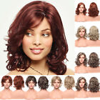 Fashion Medium Curly Wig Brown Blonde Aubrun Wigs Synthetic Hair For Women Ladie