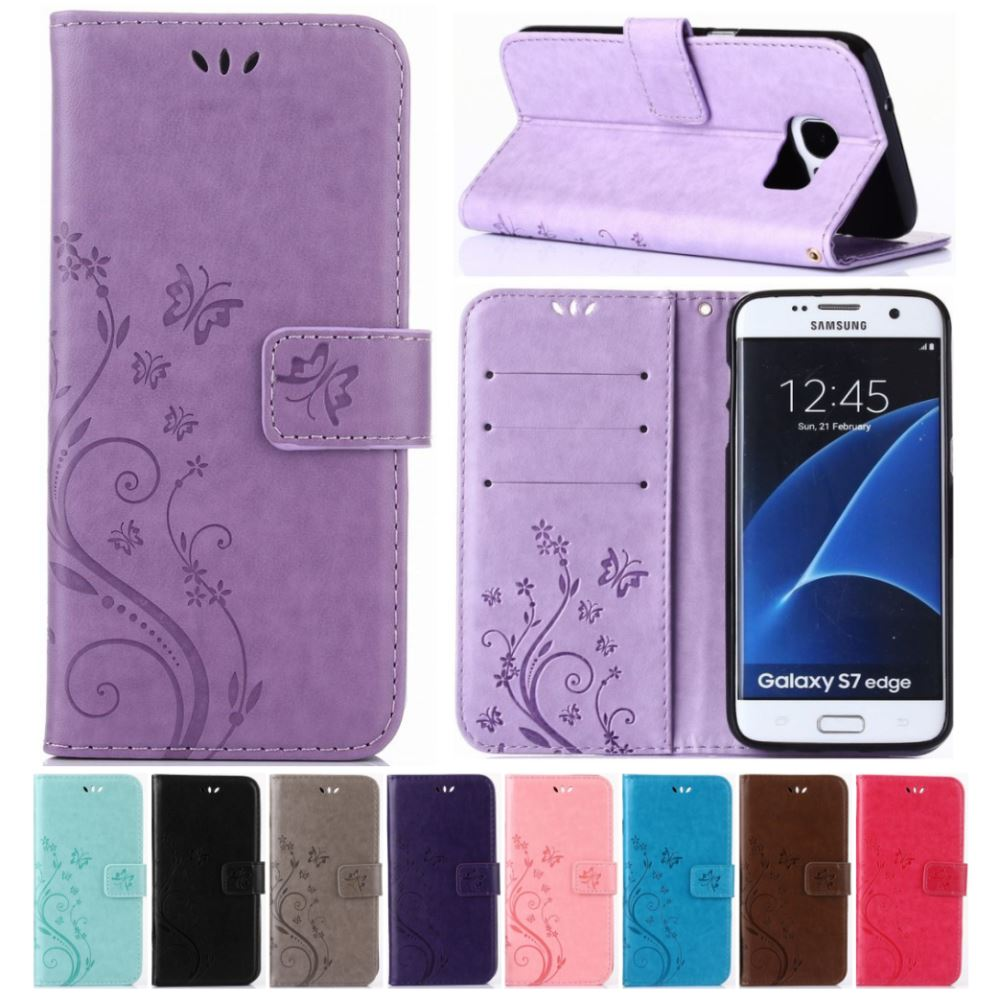 Flip Leather Case For Samsung Galaxy A5 A8 2018 S9 S8 Plus S7 S6 Edge Note8 J3 J5 J7 A3 A5 2017 2016 Prime Fundas Cover Bag D04Z