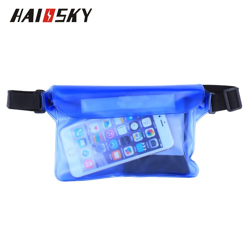 Haissky Waterproof Waist Case Cover For iPhone X XR XS Max 8 7 6 6S Plus Samsung S10 S9 S8 Plus Underwater Sports Phone Case Bag