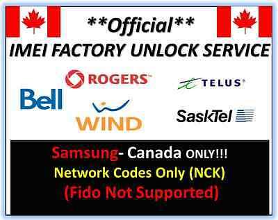 Premium Unlock Code Canada Samsung phones NCK CODE *Fast Processing*