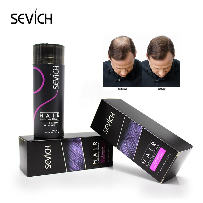 sevich Regrowth Oil Hair Keratin Thickening Hair Building Instantly 25g Hair Fiber Powder Spray Applicator Black/dk brown