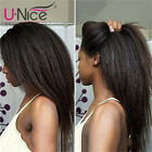 UNice Human Hair Lace Front Wigs for Black Women Kinky Yaki Straight Indian Hair